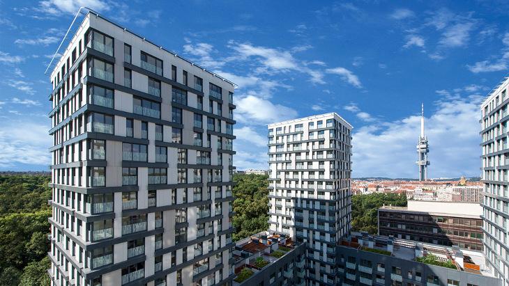 New apartments in prague 3 i kov residence garden for Design apartment in prague 6
