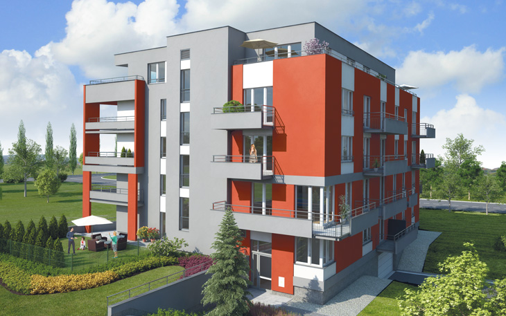 Last Phase Of Apartments At Zličín Metro