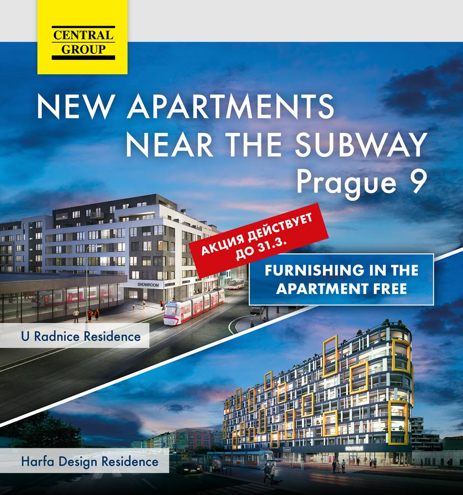 Special offer now – complete furnishing FOR FREE for all apartments in Libeň and Vysočany