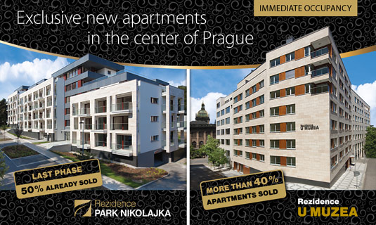 New exclusive apartments in center of Prague