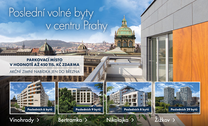 Poslední volné byty v centru Prahy