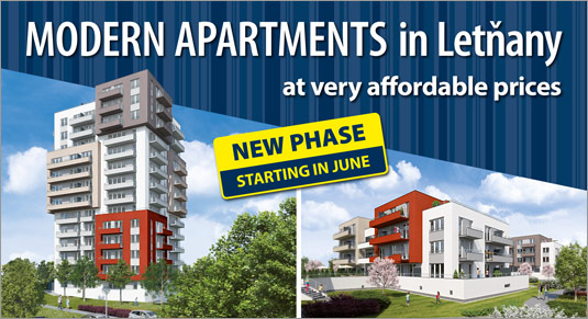 New modern apartments in Prague - Letňany Gardens project